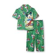 Disney Baby Mickey Mouse Infant & Toddler Boy's Short-Sleeve Flannel Pajamas - Football at Kmart.com