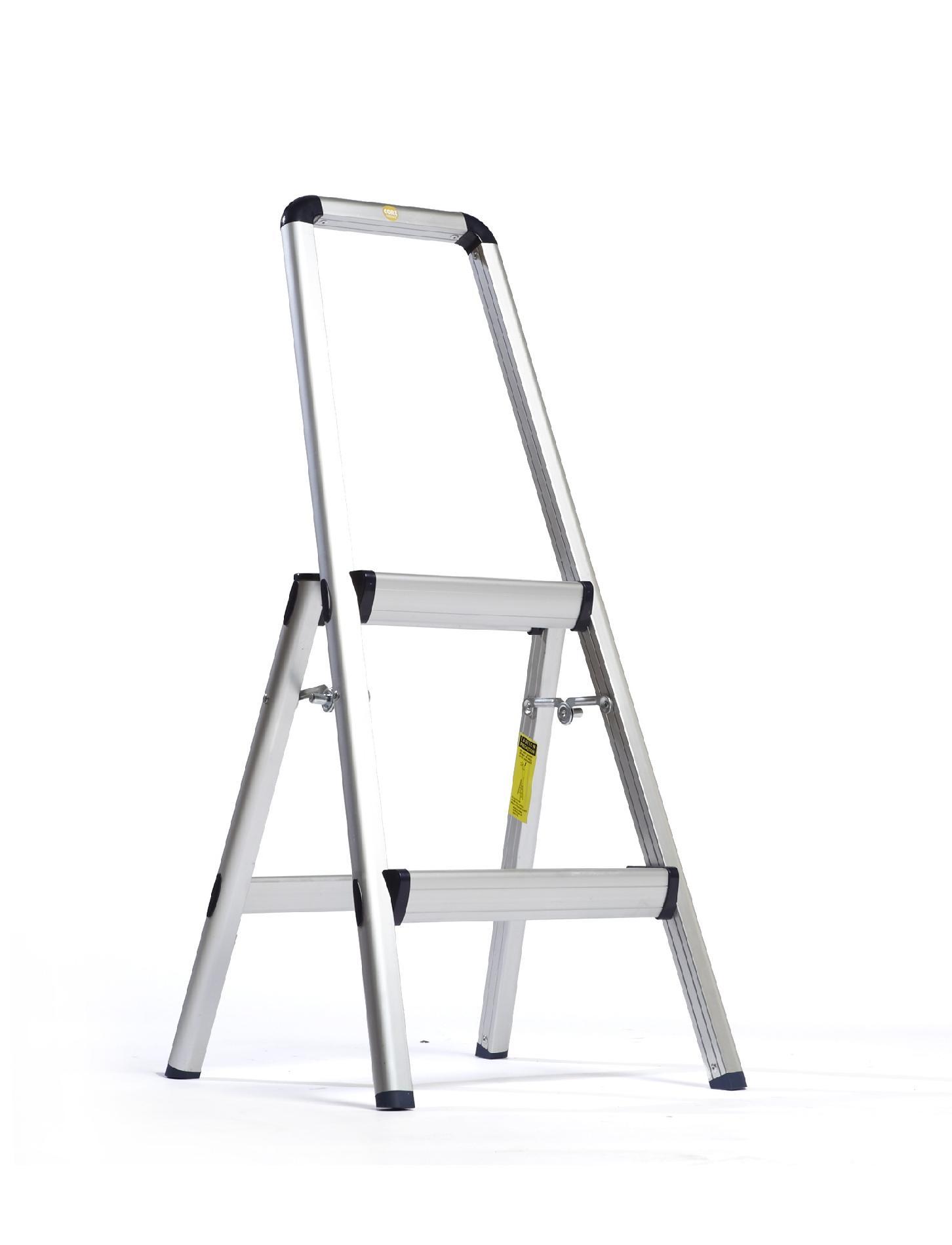 Xtend & Climb Lightweight Aluminum 2 Step Stool with Hand Rail