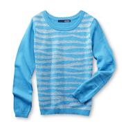 Basic Editions Girl's Sweater - Animal Stripes at Kmart.com