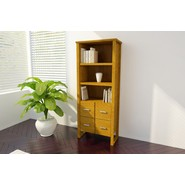 Ameriwood 3 Shelf Bookcase with Four Doors - Bank Alder at Kmart.com