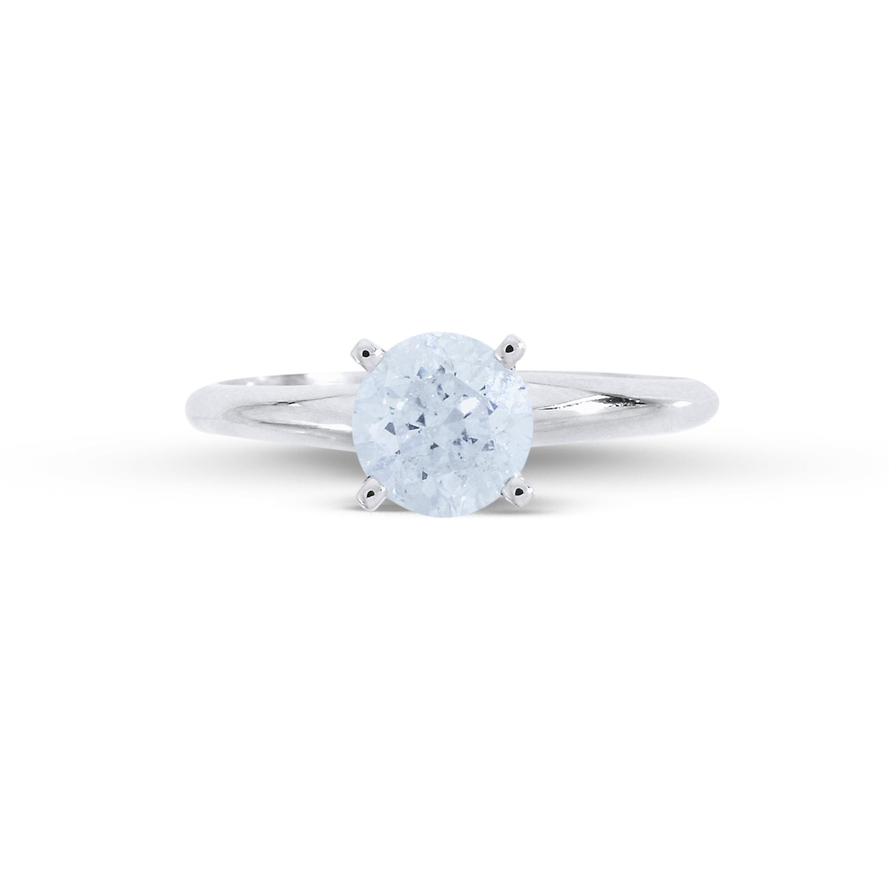 Tradition Diamond 1-Carat Round-Cut 14k White Gold Diamond Engagement Ring
