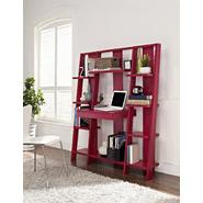 Altra Ladder Bookcase with Desk, Red Finish at Kmart.com