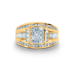 Tradition Diamond 1-1/2 Cttw. Princess Cut 10K Yellow Gold Diamond Engagement Ring at Kmart.com
