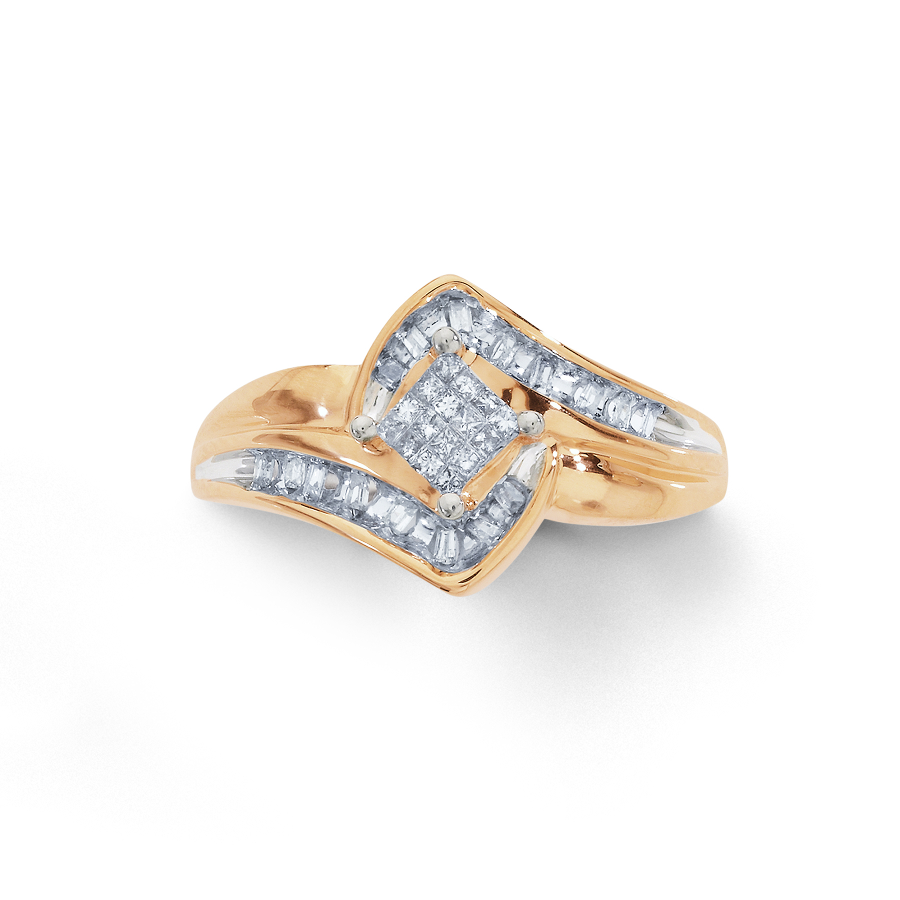 Tradition Diamond 1 4 Cttw Certified Princess Cut 10k Yellow Gold