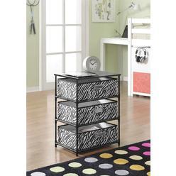 Dorel Home Furnishings 3-Bin Storage End Table - Zebra at Kmart.com