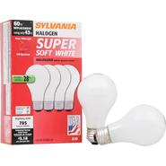 Sylvania Halogen SS Lamp A19-Medium Base 120V Light Bulb 43W- 60W Equivalent -4 Pack at Kmart.com