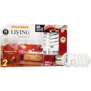Sylvania Living Spaces Light Bulbs, CFL, Instant-On, 2 bulbs at Kmart.com