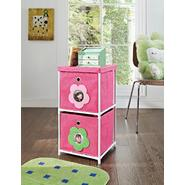 Altra Kids' 2-Bin Storage Unit, Pink with Flower Theme at Kmart.com
