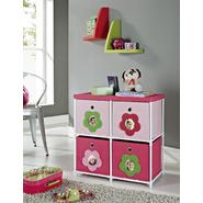Altra Kids' 4-Bin Storage Unit, Pink with Flower Theme at Sears.com