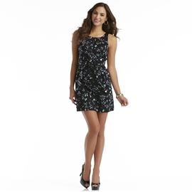 Attention Women's Dress & Belt - Jewel Print at Kmart.com