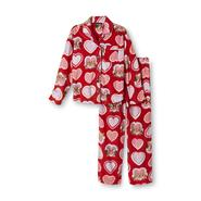 Joe Boxer Girl's Fleece Pajama Set - Puppies & Hearts at Kmart.com