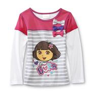 Nickelodeon Dora the Explorer Girl's Long-Sleeve Shirt With Bows at Sears.com
