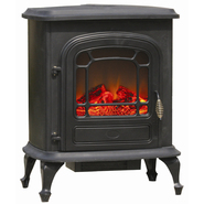 "Fire Sense 28.37""H x 15.56""W x 23.09""D Stowe Electric Fireplace Stove - Black at Kmart.com"