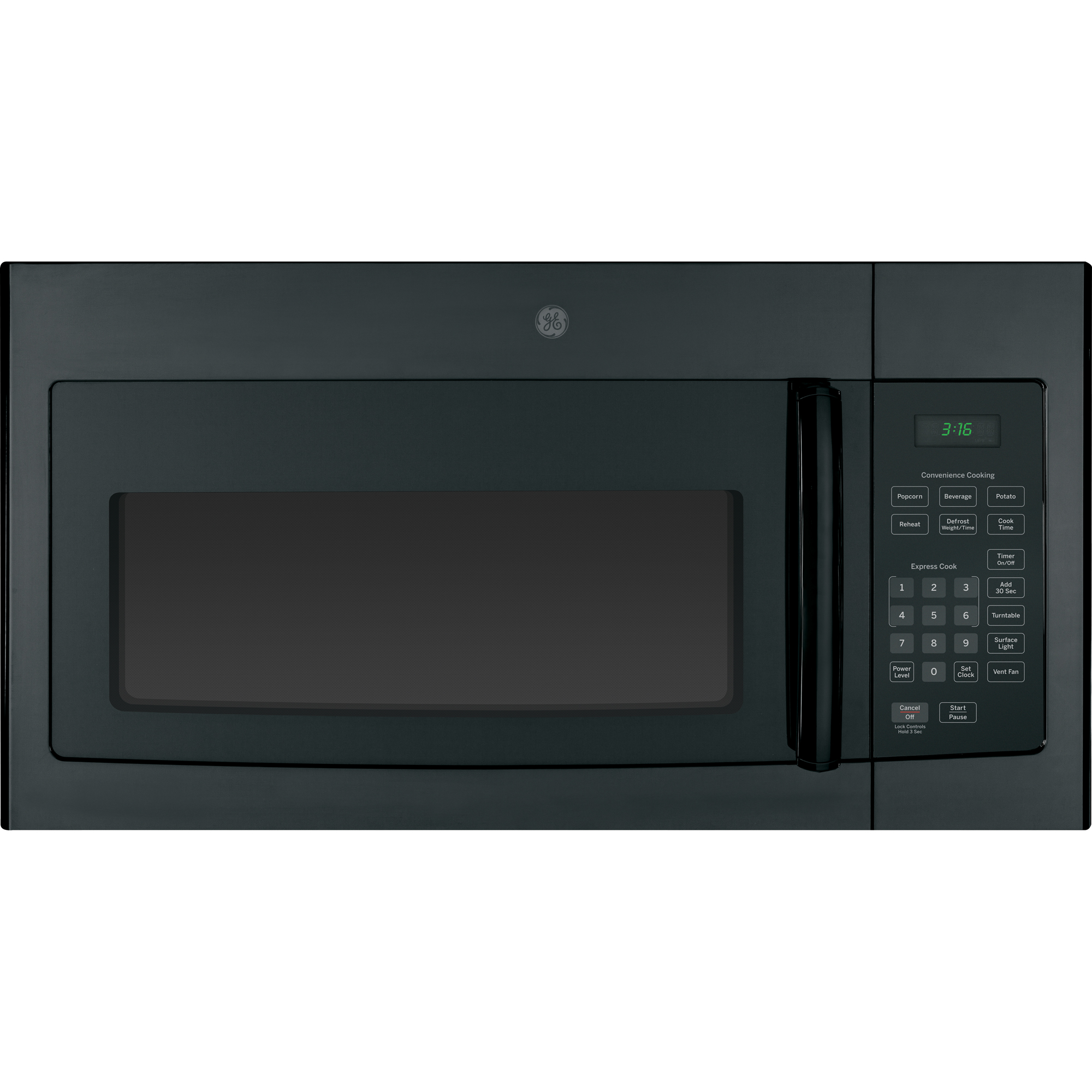 Ge Liances Jvm3160dfbb 1 6 Cu Ft Over The Range Microwave Oven Black