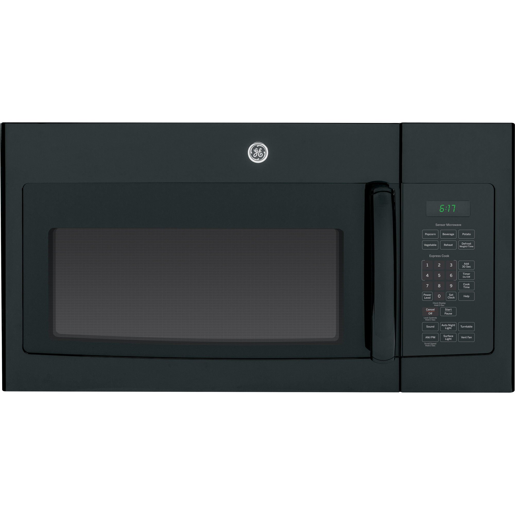 1.7 cu. ft. Over-the-Range Sensor Microwave Oven - Black