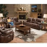Beautyrest Chocolate Gracia Double Motion Loveseat at Sears.com