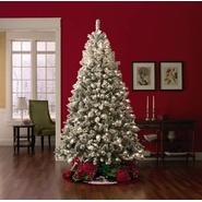 Donner and Blitzen 7.5' 600 Clear Light Pre-lit Brighton Flocked Spruce Christmas Tree at Kmart.com