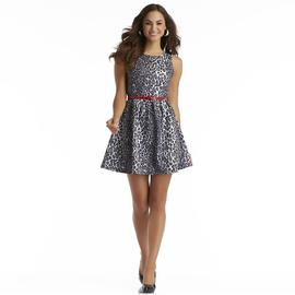 Attention Women's Printed Fit & Flare Dress - Leopard Print at Kmart.com