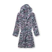 Joe Boxer Women's Short Plush Hooded Robe - Tribal at Sears.com