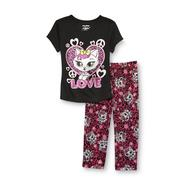 Joe Boxer Girl's Graphic T-Shirt & Pajama Pants - Kitten at Kmart.com