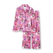 Joe Boxer Girl's Flannel Pajamas - Girlie Monkey & Peace at Kmart.com