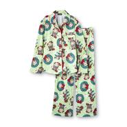 Joe Boxer Girl's Flannel Pajamas - Christmas Monkey at Kmart.com
