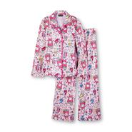 Joe Boxer Girl's Flannel Pajamas - Popcorn & Movie Snacks at Kmart.com