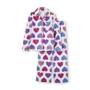 Joe Boxer Girl's Flannel Pajamas - Animal Print Hearts at Kmart.com