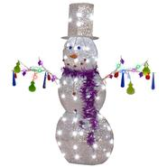Gemmy 43 in. W x 13 in. D x 47 in. H Pre-Lit Jeweled Crystal Chandel-Snowman at Kmart.com