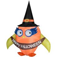 Gemmy 72 in. W x 49 in. D x 84 in. H Halloween Airblown Inflatable Falloween Owl with Banner at Kmart.com
