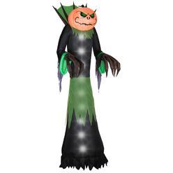 Gemmy 51 in. W x 39 in. D x 168 in. H Halloween Airblown Inflatable Pumpkin Head Reaper at Kmart.com