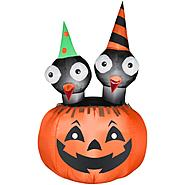 Gemmy 33 in. W x 33 in. D x 54 in. H Halloween Airblown Inflatable Crows Nest Jac-O-Lantern Scene at Kmart.com