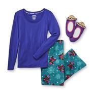 Joe Boxer Women's Pajama Top, Pants & Slippers - Monkeys at Sears.com