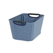 Household Essentials Small Open Tapered Bin w/wood handles Blue at Kmart.com
