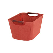 Household Essentials Small Open Tapered Bin w/wood handles Red at Kmart.com