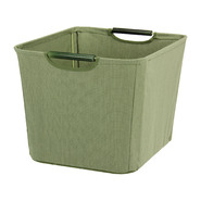 Household Essentials Medium Open Tapered Bin w/wood handles Green at Kmart.com