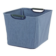 Household Essentials Medium Open Tapered Bin w/wood handles Blue at Kmart.com