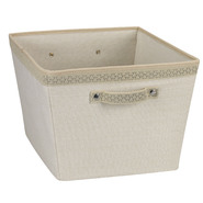 Household Essentials Large Tapered Bin Plastic/Cotton Ivory-Straw with Sonic Trim Link at Kmart.com