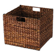 Household Essentials Banana Leaf  Storage Bin Stained Dark Brown at Kmart.com