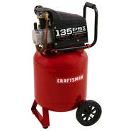 Craftsman 10 Gallon 135PSI  oil-lube portable air compressor at Craftsman.com
