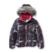 Athletech Girl's Hooded Puffer Jacket - Abstract Plaid at Kmart.com