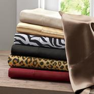 Premier Comfort Solid Satin Black Cal King Sheet Set at Kmart.com