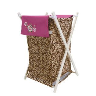 Trend Lab Hamper Set - Berry Leopard