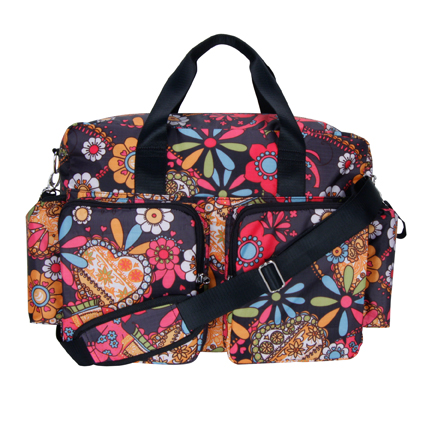 Trend Lab Diaper Bag - Bohemian Floral Deluxe Duffle,  Multi-Colored