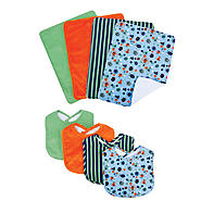 Trend Lab Bouquet Set - Snuggle Monster - Bib & Burp Cloth at Kmart.com