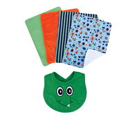 Trend Lab Bouquet Set - Snuggle Monster Green - Bib & Burp Cloth at Kmart.com