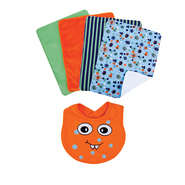 Trend Lab Bouquet Set - Snuggle Monster Orange - Bib & Burp Cloth at Kmart.com