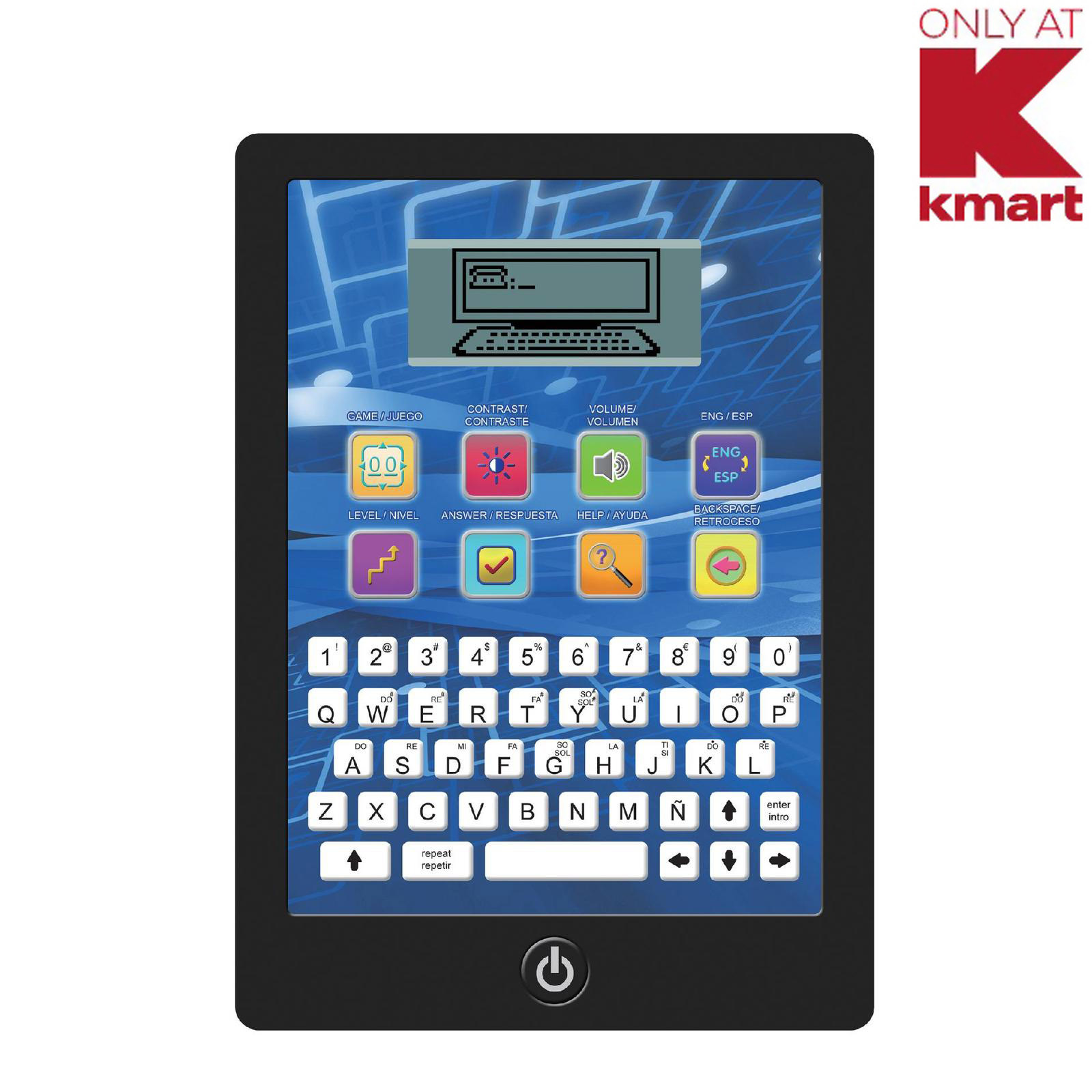 Just Kidz Educational Electronic LCD Learning Pad PartNumber: 004W003208263001P KsnValue: 3208263 MfgPartNumber: 8168K-01
