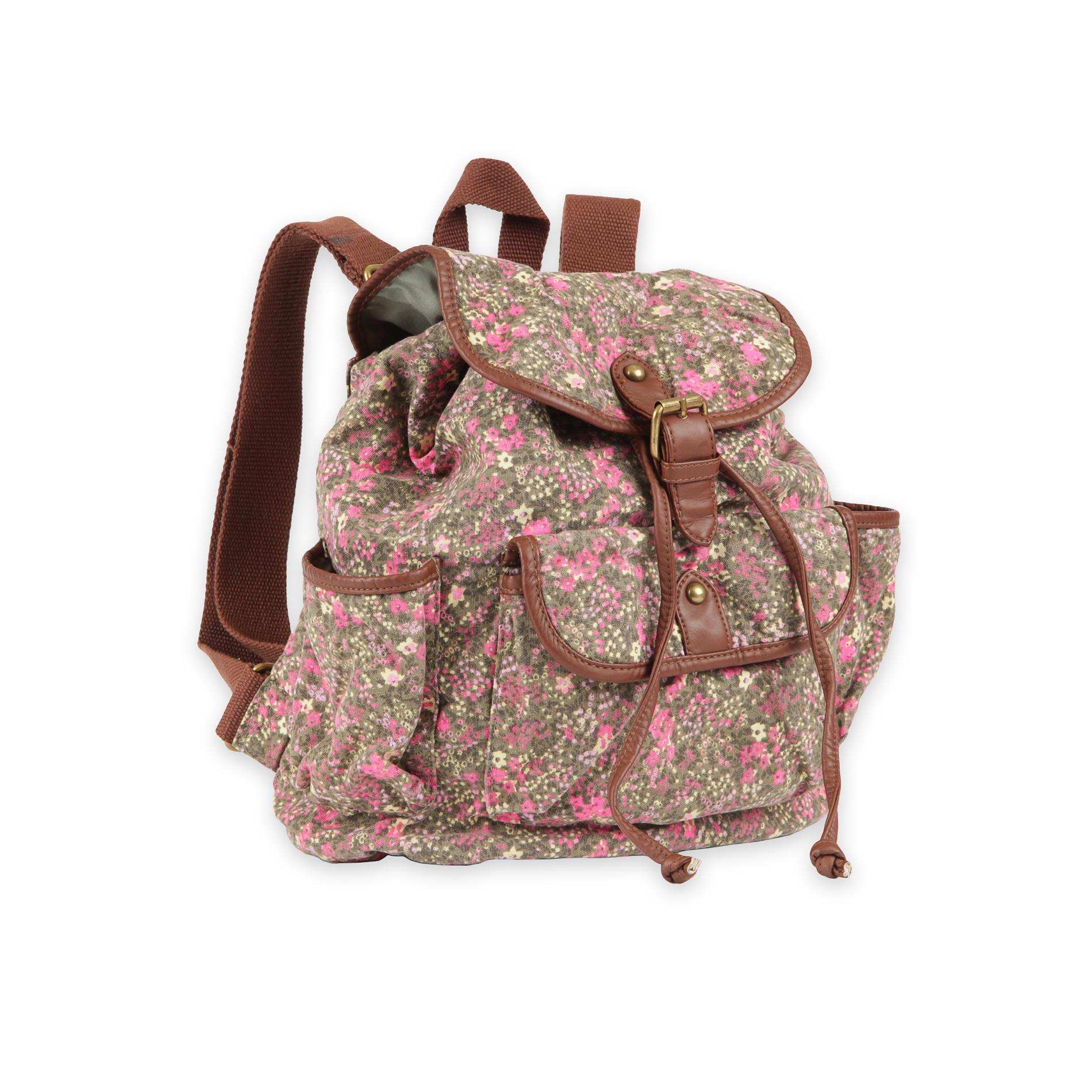 Bongo Junior's Compact Canvas Backpack - Floral
