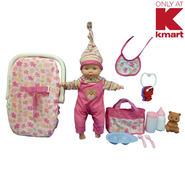 "Just Kidz 13"" Baby Doll with Carrier Set at Kmart.com"